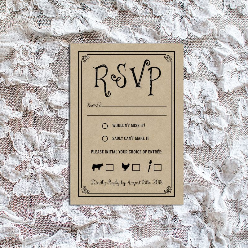 Rsvp Cards Templates Free Fresh Wedding Rsvp Card Black And White Rsvp Wedding Cards Wedding Rsvp Postcard Rsvp Card