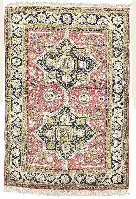 Persian Qum silk rug