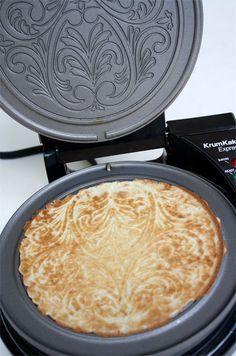 Norwegian Krumkake Iron Homemade Waffles Waffle Cone Recipe Waffle Iron Recipes