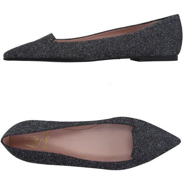 Monsoon Poppy Pom Pom Ballerina Shoe (€33) liked on