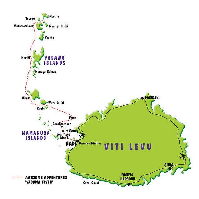 Mapa Fiji islands Bula Pass Fiji islands - new world map fiji country