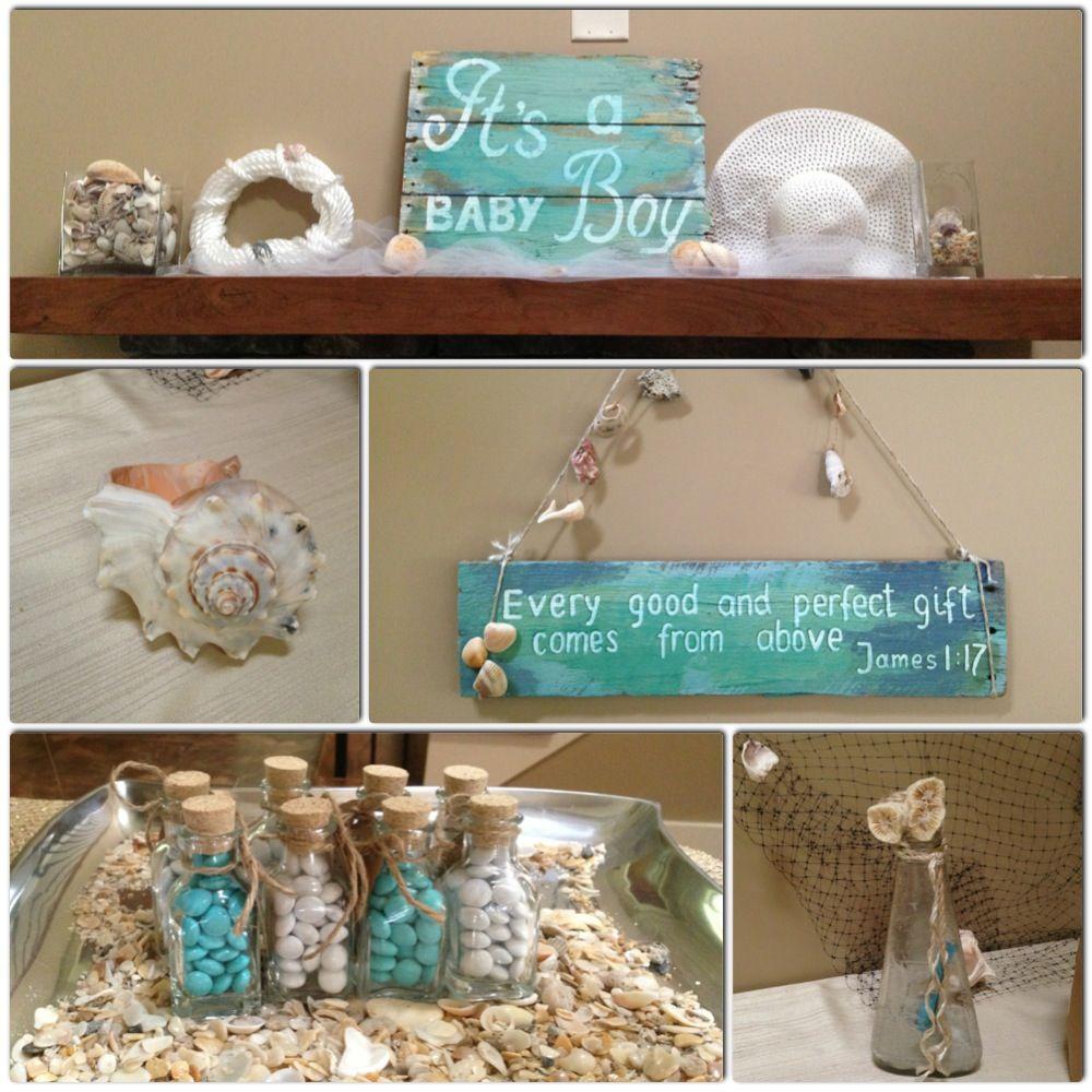 Beach theme Baby shower #babyshower #beachtheme # ...