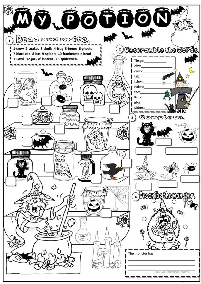 halloween Halloween worksheets, Halloween games for kids