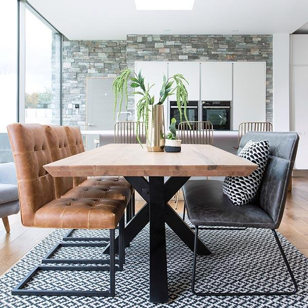 Pin On Home, Dining Room Table With Leather Bench
