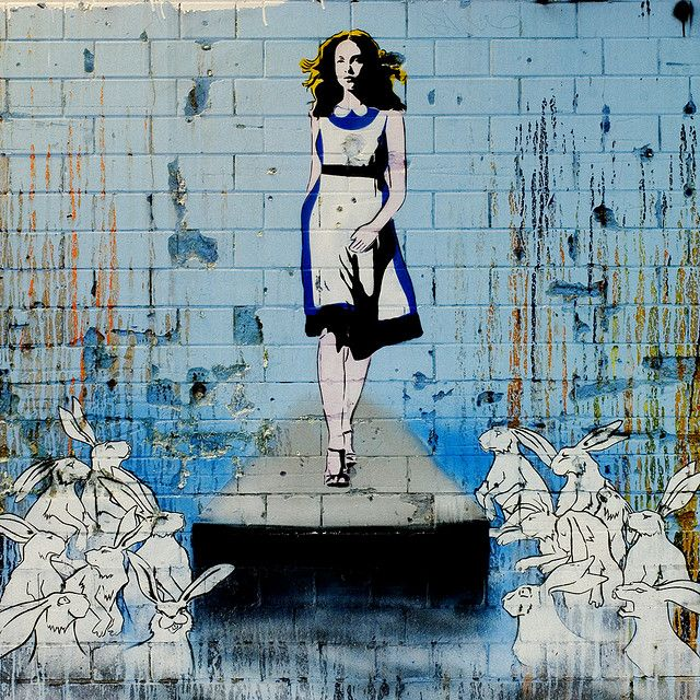 Alice in Street Art Land by Simon Crubellier, via Flickr