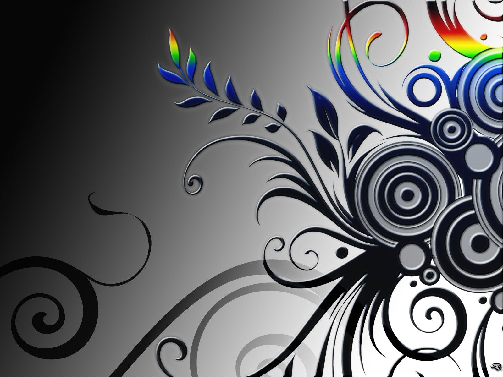 black and white vector art image wallpaper full hd