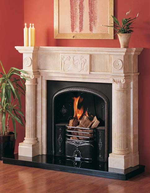 Roman Column Roman Columns Fireplace Sandstone Fireplace
