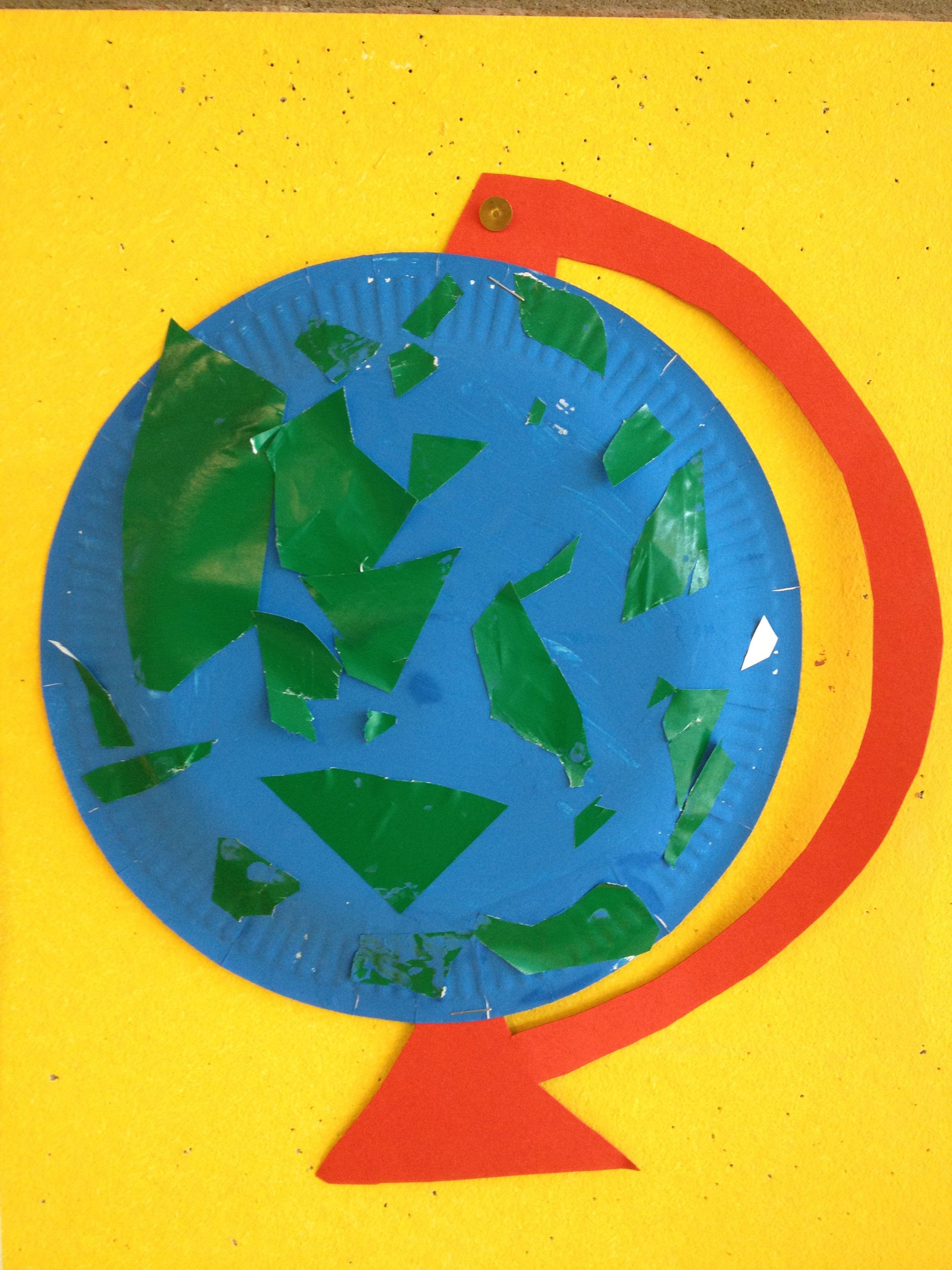 Pin Van Nadine Gehrke Op Kdv Thema Wereldbol Knutselen Rond De Wereld