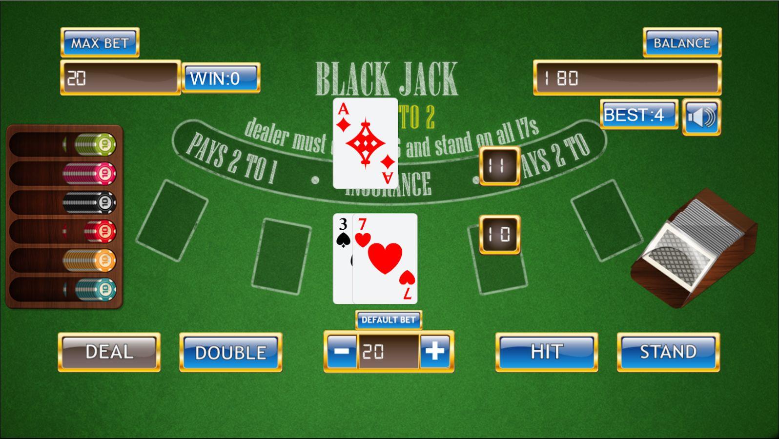 Blackjack 21 Classic Twentyone This free black jack game