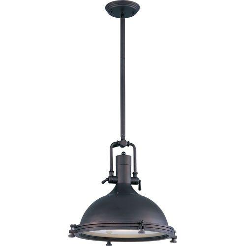 Hi Bay Bronze One Light Pendant Maxim Lighting International Dome Ceiling