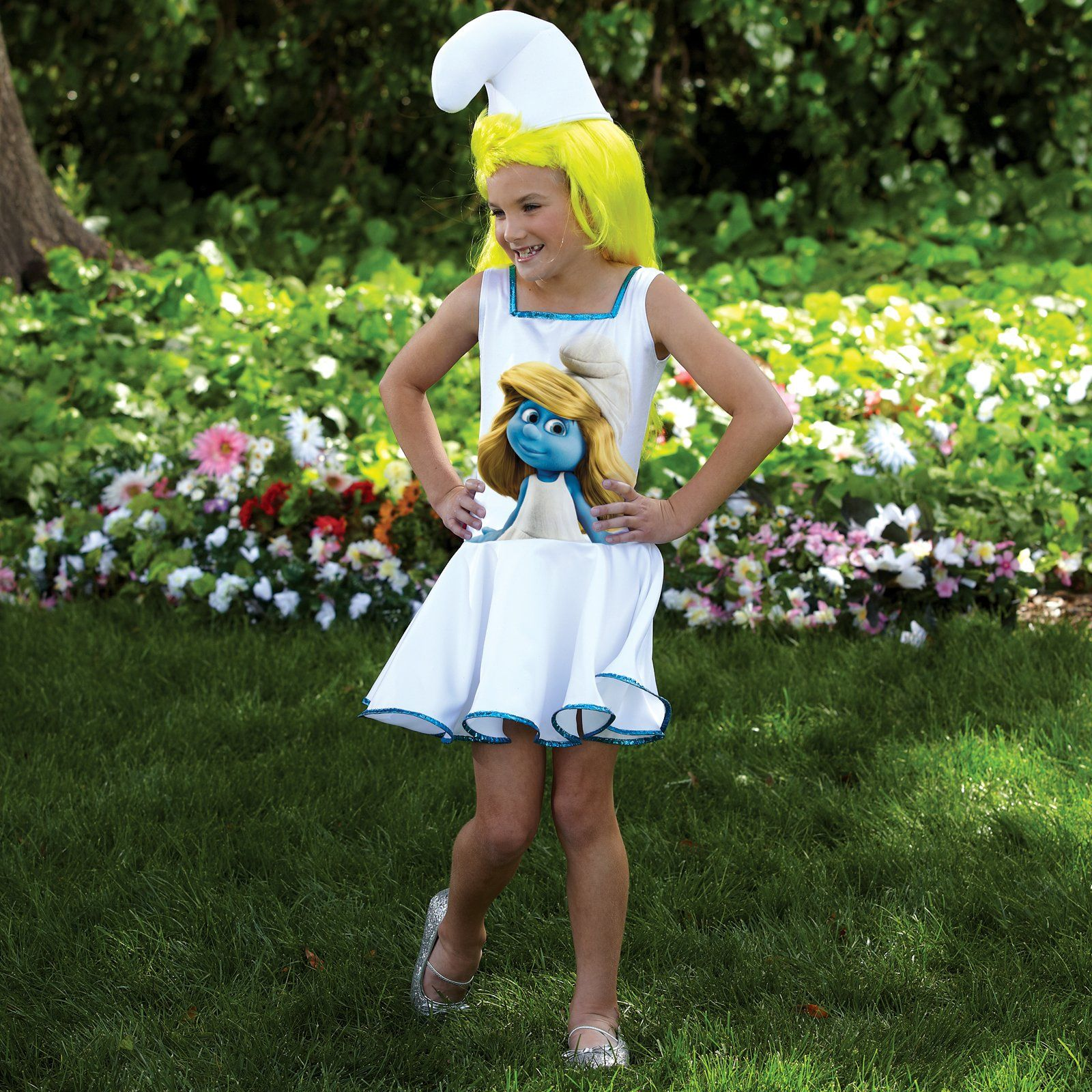 The Smurfs - Smurf Dress Kids Costume from BirthdayExpress.com ...