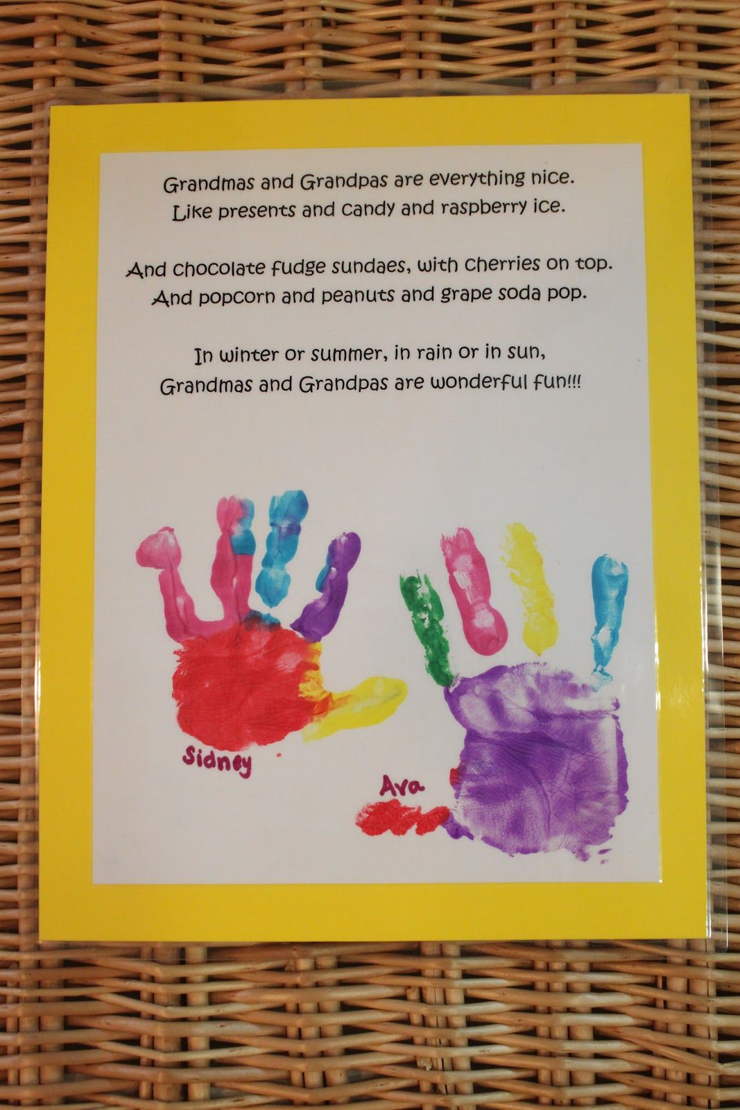 grandparents day projects | Keeping up with the Kiddos ...