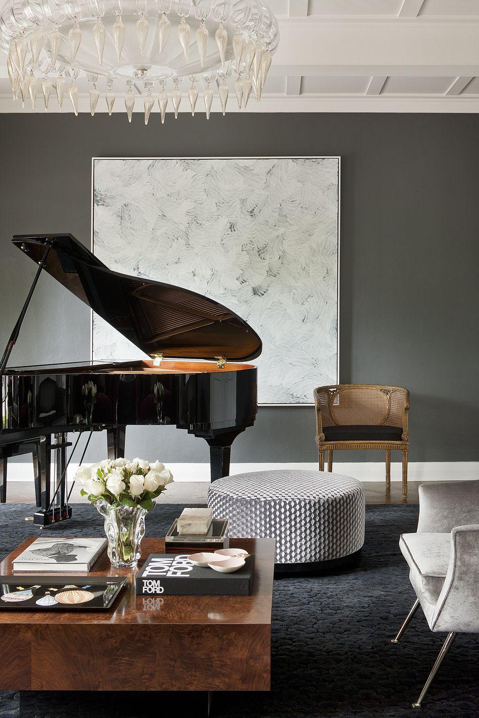 David Hicks Intimate Book / extract   Piano room decor ...