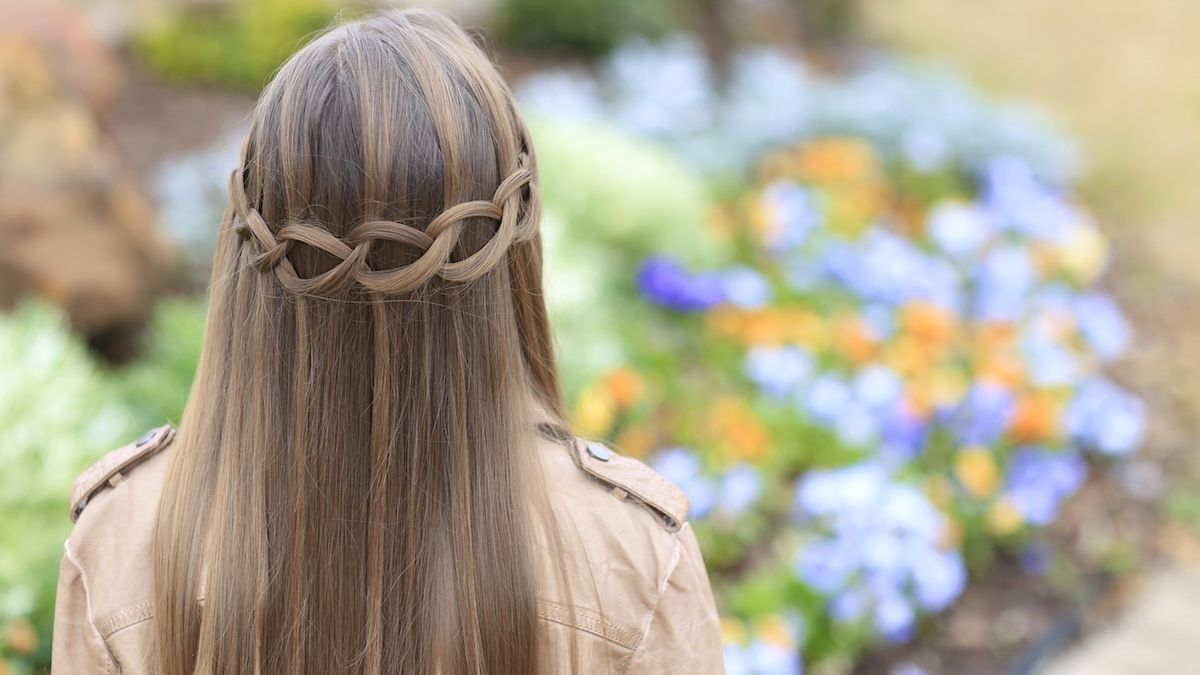 Loop waterfall braid hairstyles hairstyle waterfallbraid briad