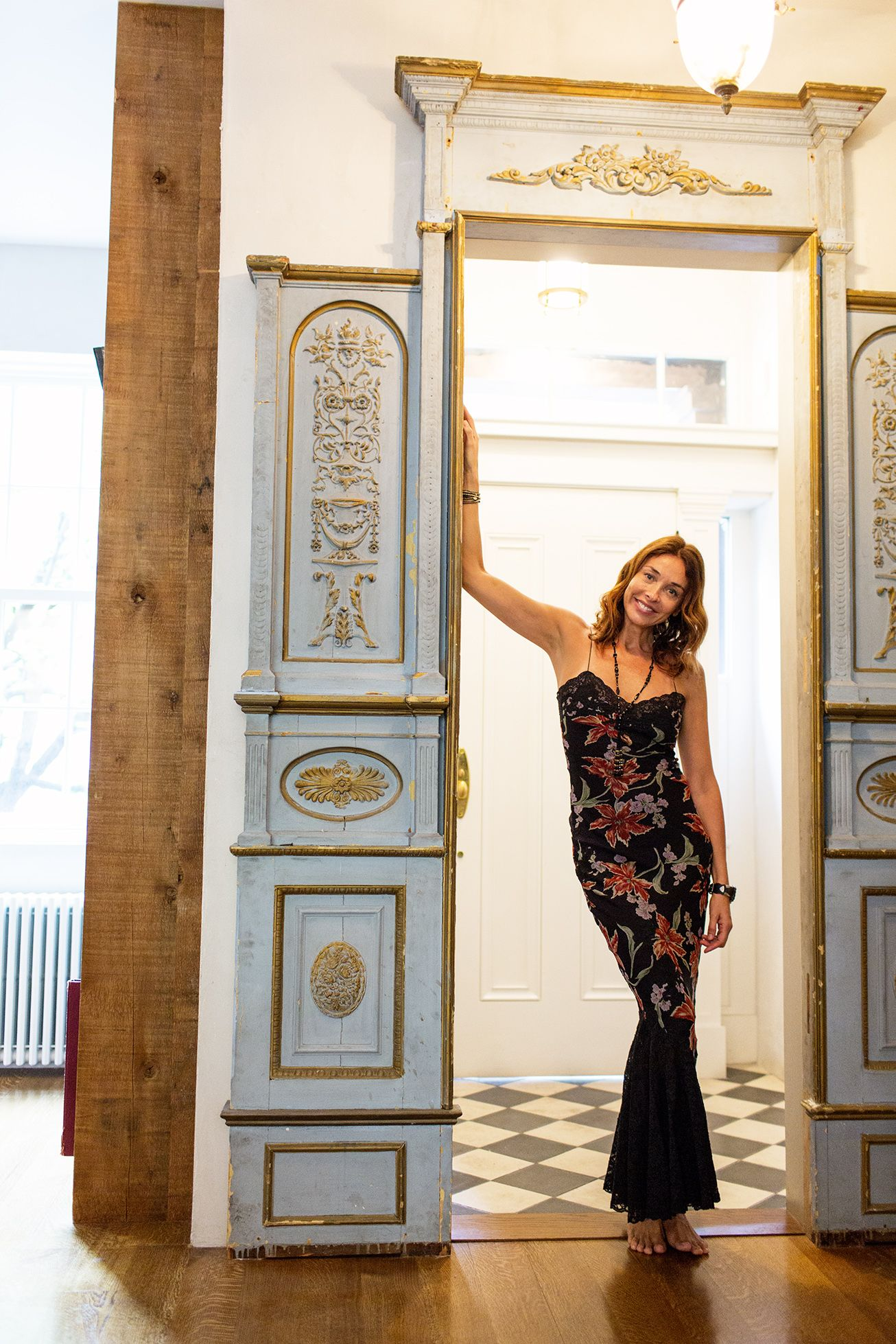 Olatz Schnabel U2013 Designer At Home In New York City « The Selby Antique Door  Frame