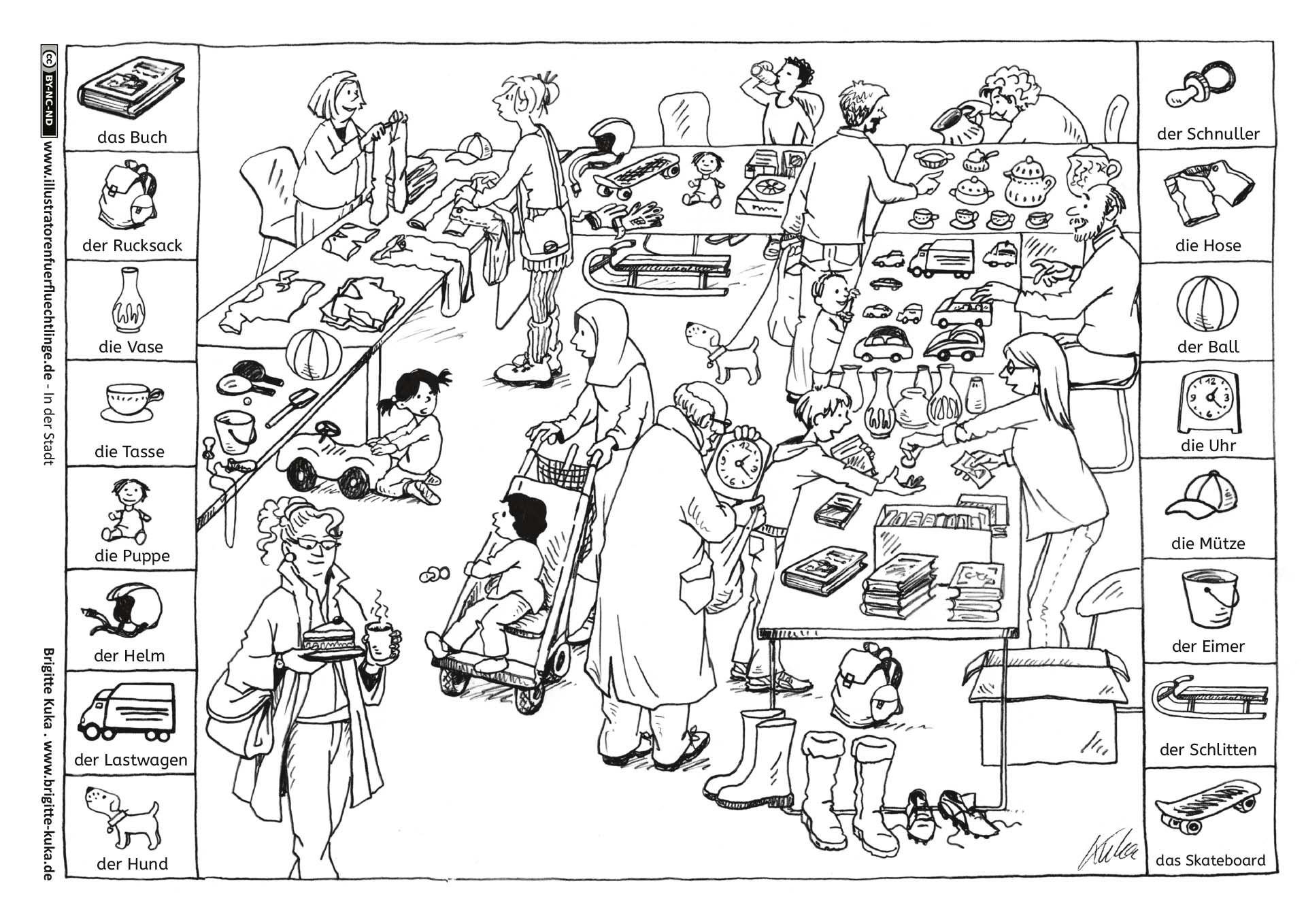 download als pdf in der stadt  flohmarkt  kuka