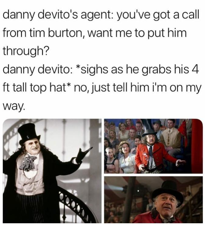 New date same hat | Danny devito, Memes, Funny memes