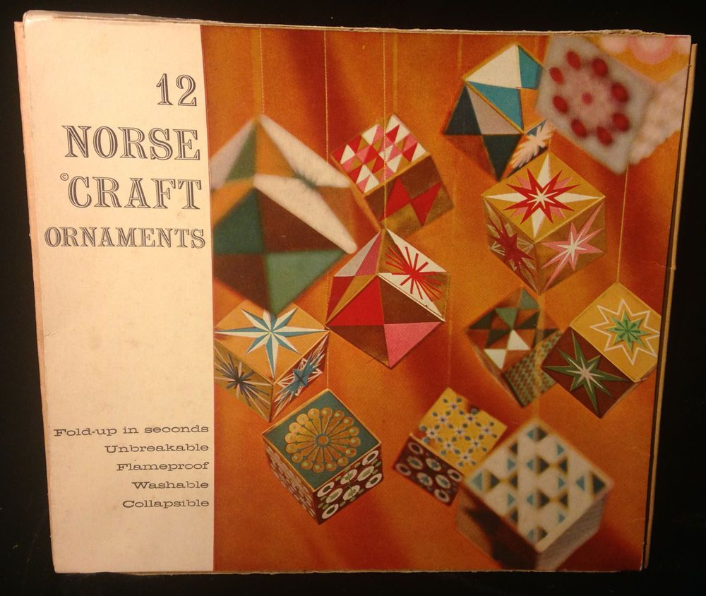 Vintage 50s 1956 Christmas Mid Century Modern Norse Craft Paper ...
