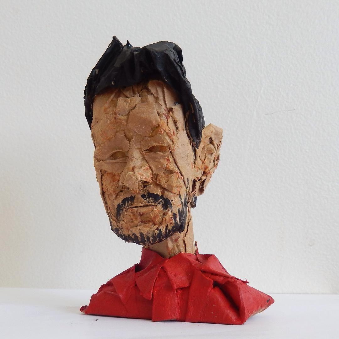 #davidchoe @bobbytrivia #cardboard #acrylic #sculpture #art #portrait #dvdasa #choe by @milespartington