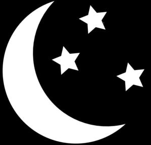 Moon And Stars Outline Clip Art Moon Star Clipart Moon