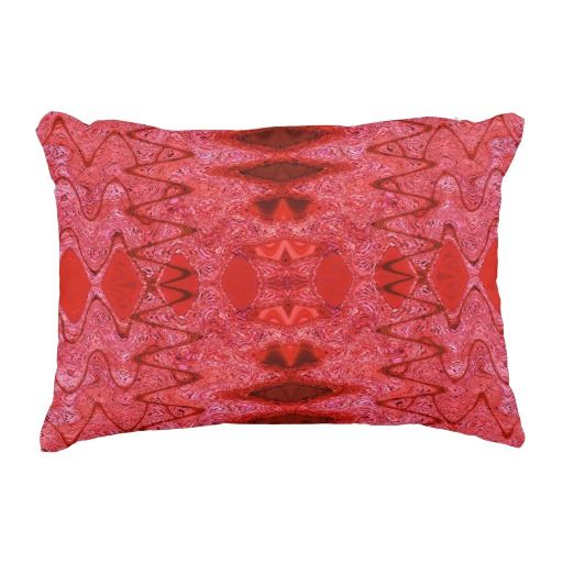 Red Abstract Pattern Accent Pillow