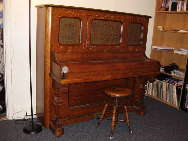 1891 Newby & Evans upright piano on Craigslist. https ...