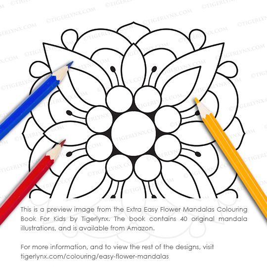 This Simple Mandala Colouring Page Is From The Extra Easy Flower