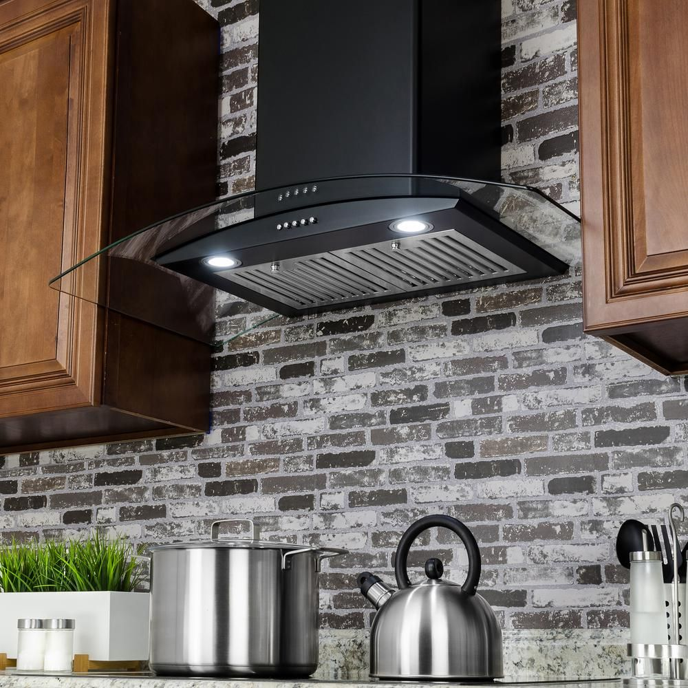 Akdy 30 In 217 Cfm Convertible Kitchen Stainless Steel Wall Mount Range Hood With Led And Carbon Filters Rh0468ds The Home Depot Kitchen Remodel Design Kitchen Range Hood Range Hood