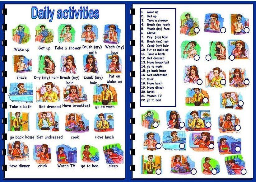 Optimus 5 search image esl daily activities