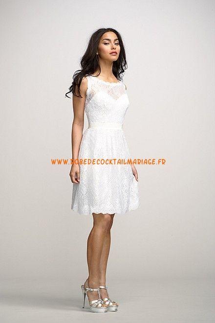 Robe glamour courte blanche 2013 pas cher robe de mariée de.