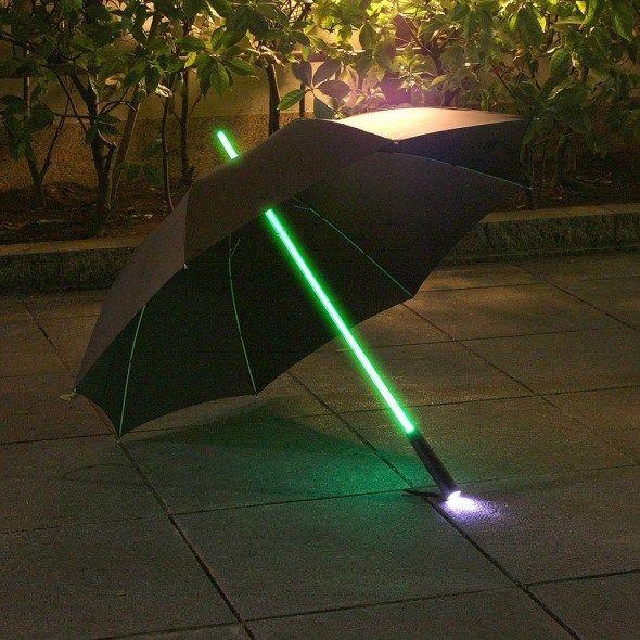 Rainbow Flash LED Umbrella - Light up on rainy days.