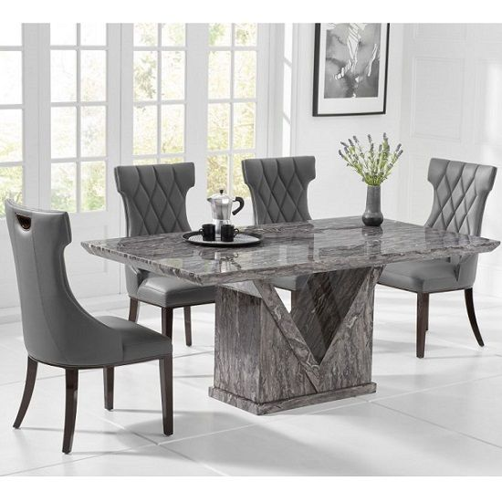 Belcher Small Grey Marble Dining Table With Four Tybrook Chairs Furniture In Fashion Dining Table Marble Marble Top Dining Table Marble Dining