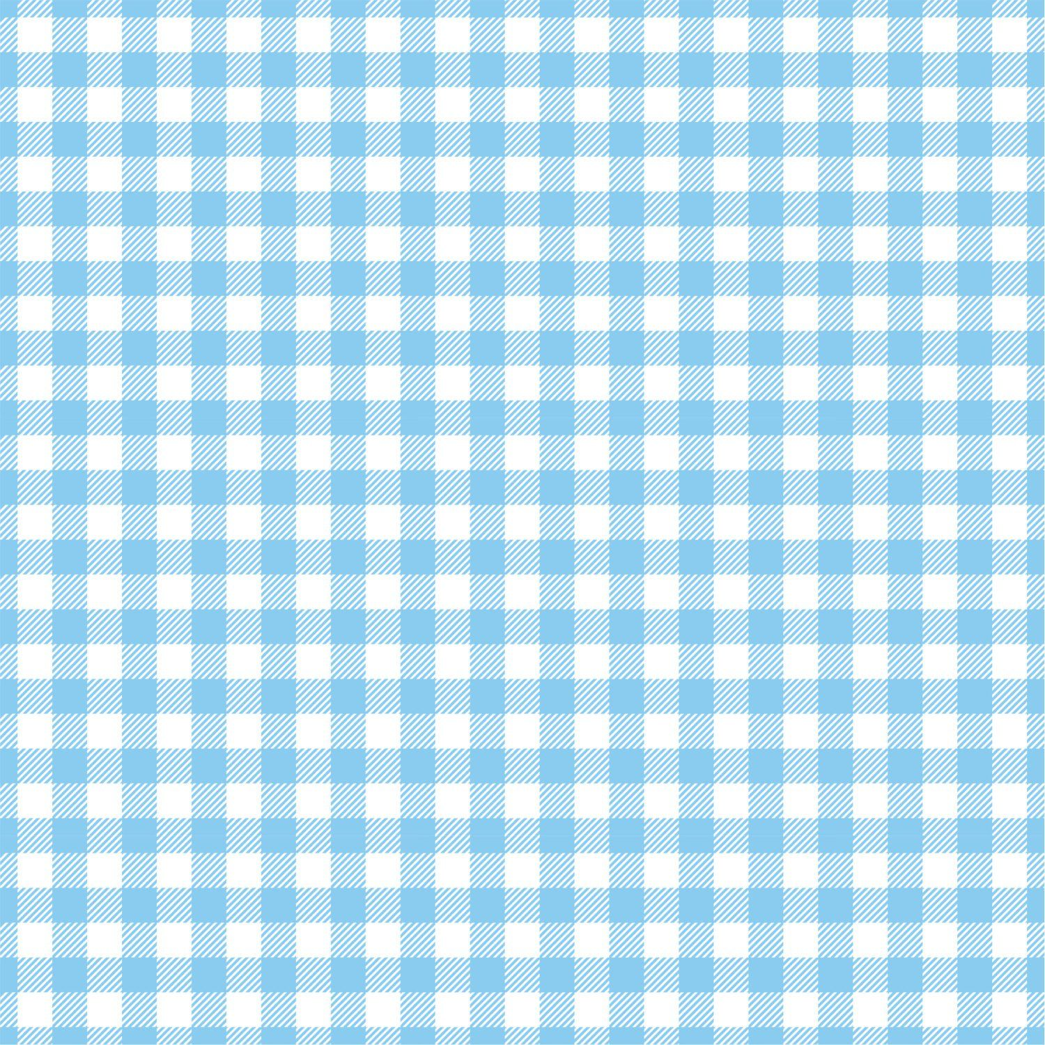 Light Blue Gingham Craft Vinyl Sheet Htv Adhesive