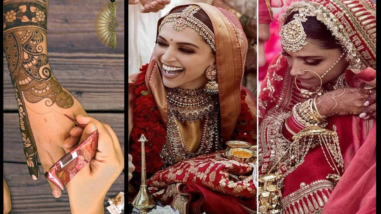 Deepika Padukone Wedding Mehndi Design Video Recreation Youtube Bridal Mehendi Designs Indian Wedding Photos Mehndi Designs
