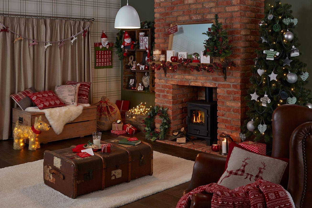 Emejing Country Christmas Decorating Ideas - Decorating Interior ...