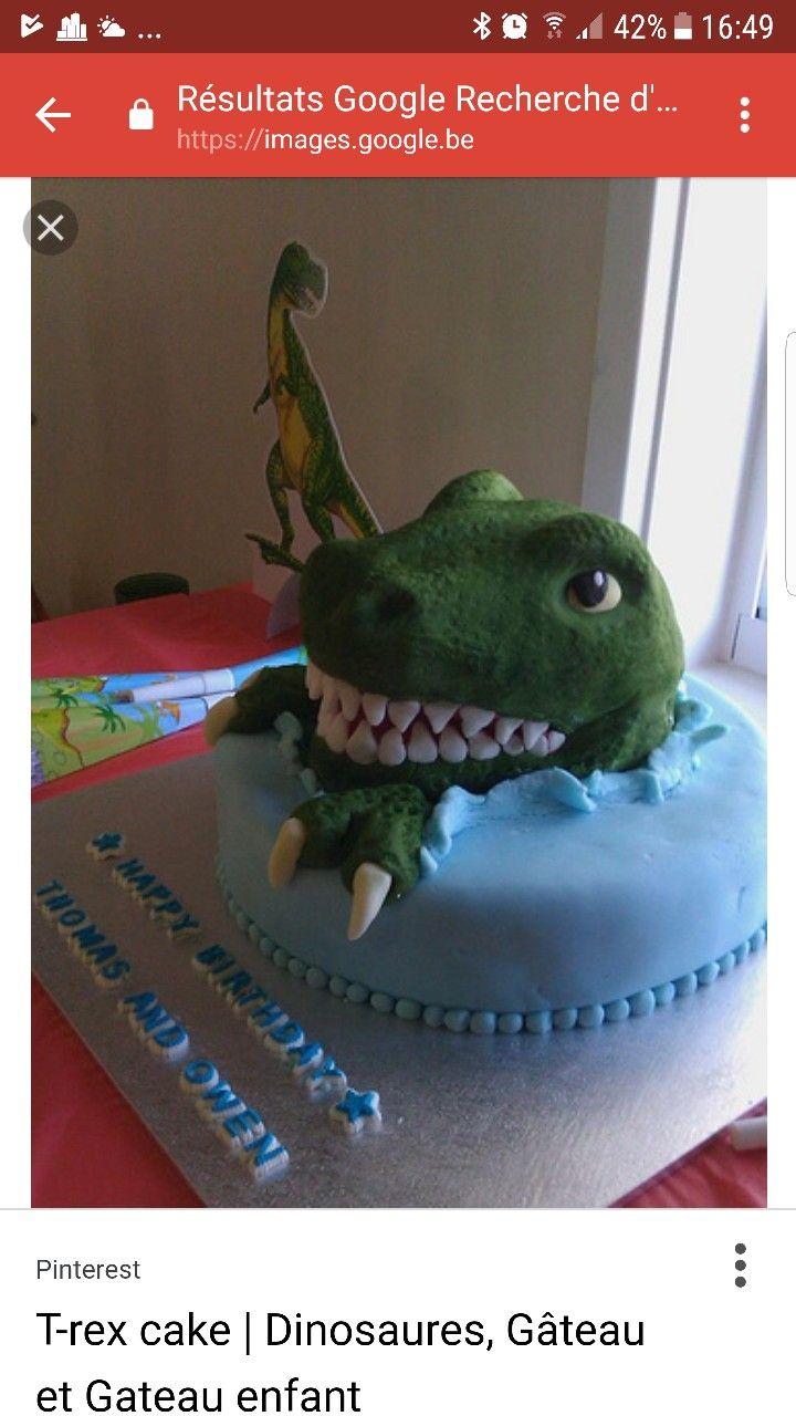 Pin de en pinterest gateau dinosaure gateau anniversaire y - Dinosaure rigolo ...