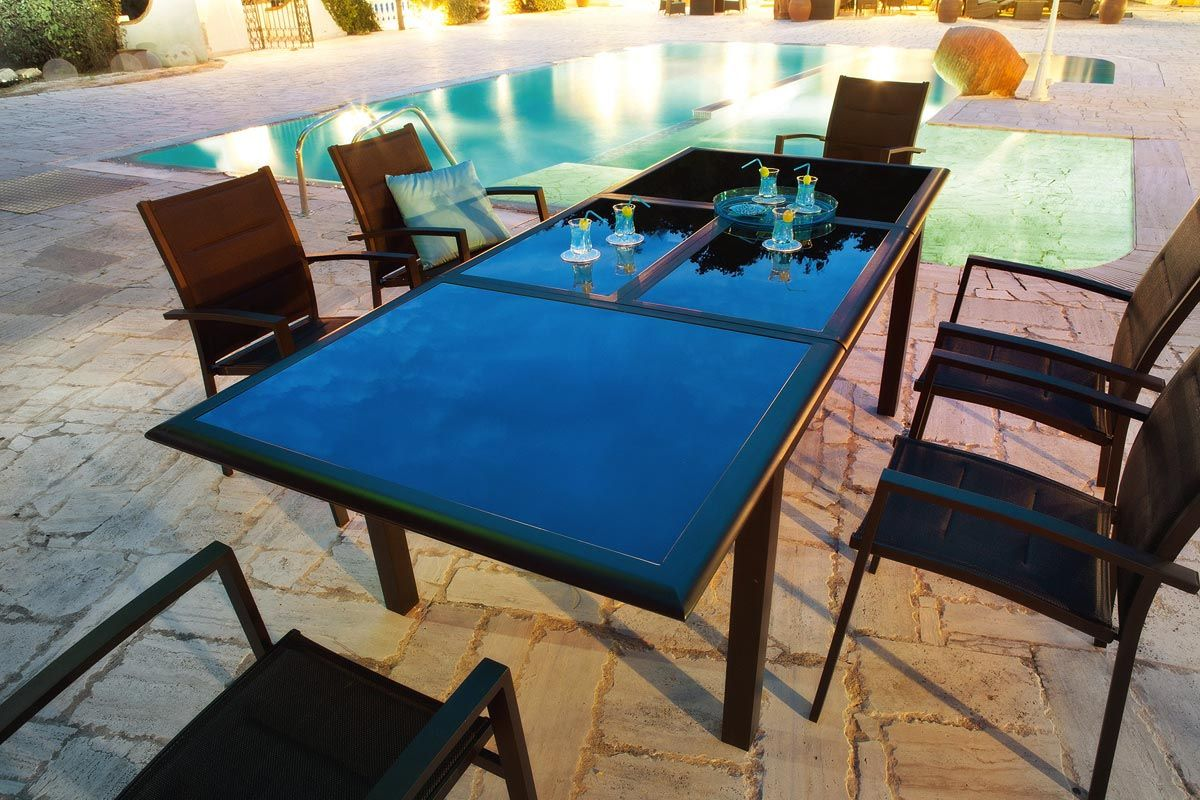 TABLE EXTENSIBLE AZUA NOIR - HESPERIDE | Terrasse | Pinterest