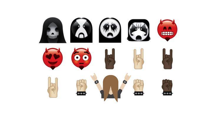 The Heavy Metal Emoji Keyboard Is Everything You D Want And More Emoji Keyboard Emoji Heavy Metal