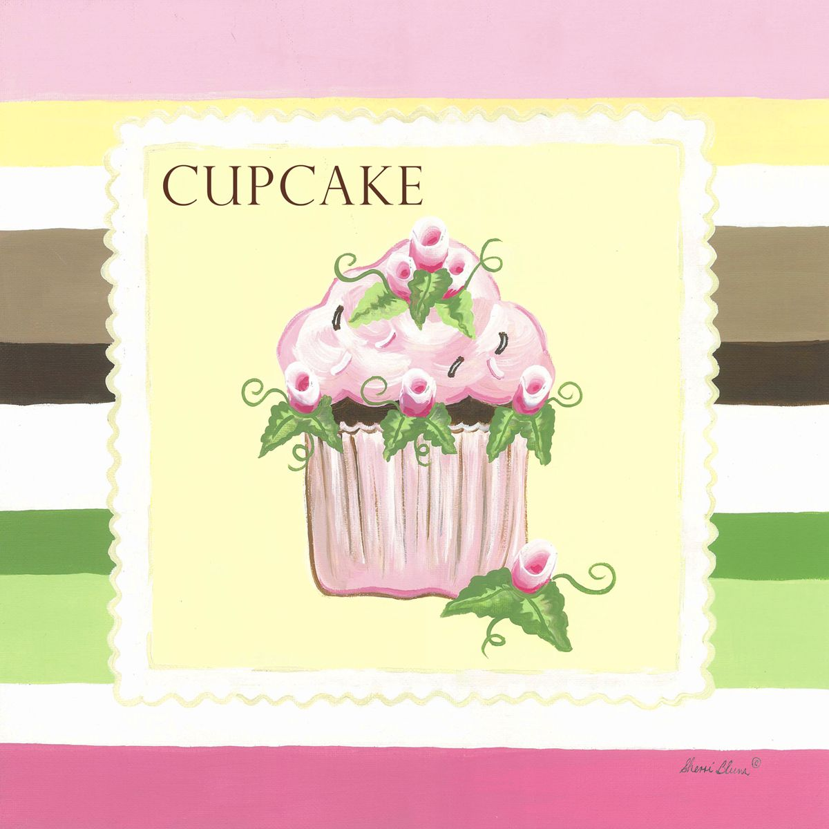 Fine Cupcake Canvas Wall Art Illustration - The Wall Art Decorations ...