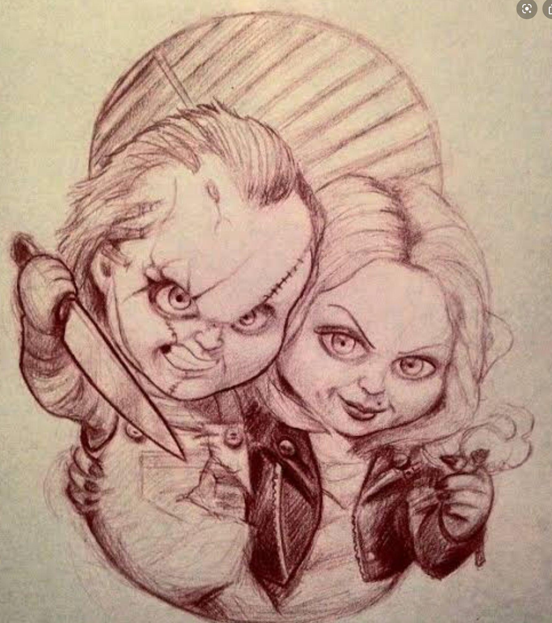 Pin By ĝacĥa ĺĕō On Blue Sky Clouds Sketches Chucky Drawing Tattoo Art Drawings