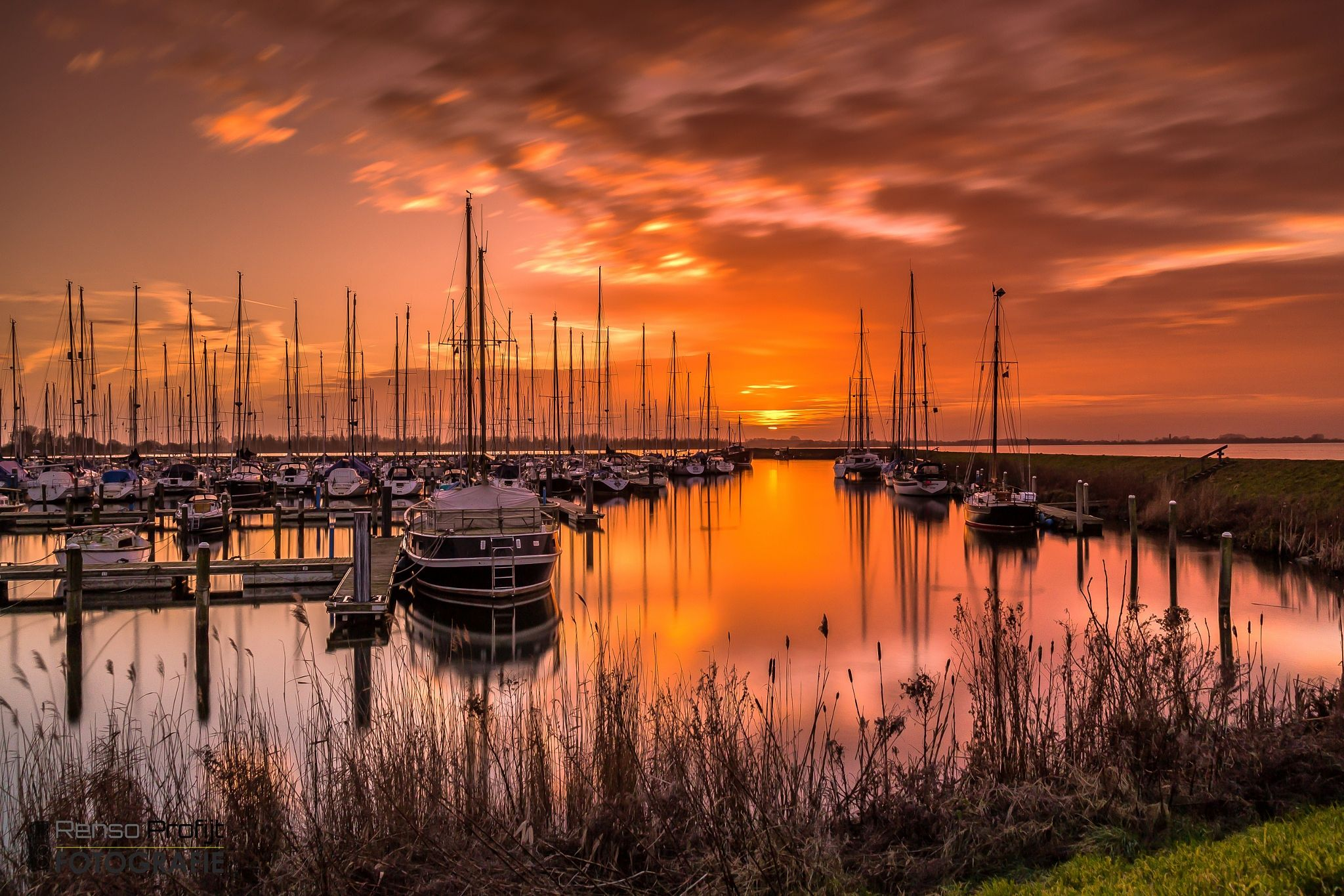 Sunset Harbour Andijk by Renso Profijt on 500px