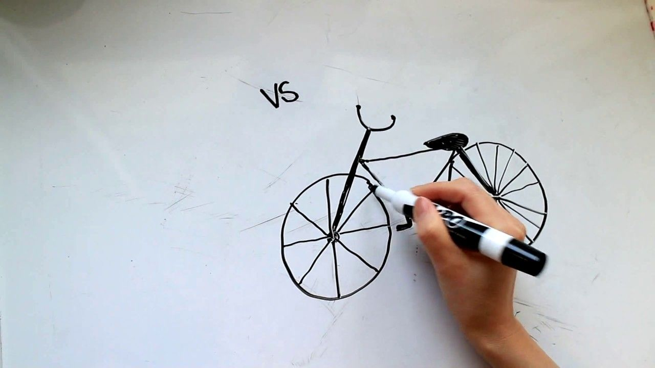 4 Kids Tutorial How To Draw A Bicycle Or Bike In 3 Minutes