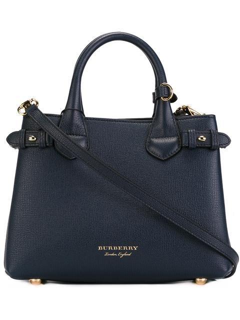 BURBERRY 'House Check' shoulder bag. #burberry #bags #shoulder bags #leather #cotton #