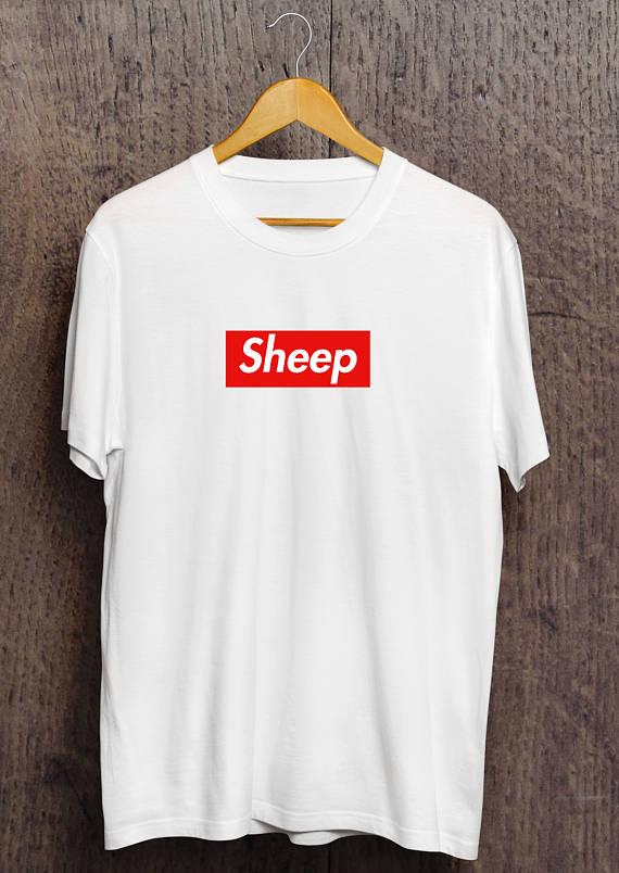 b311103c730c Sheep iDubbbz Supreme Box Logo Parody T-Shirt | Cool Vibes Store ...