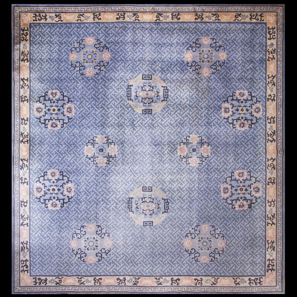 Stock Id General Rug Type Chinese Specific Art Deco Rugs Circa 1920 Color Light Blue Origin China Width Cm Length
