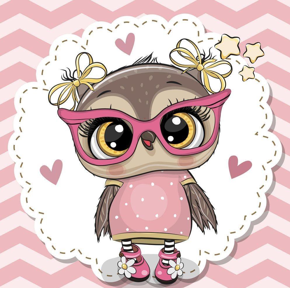 Pin By Maricruz On Cute Cartoon Animals Owl Cartoon Wallpaper Pink Cute Cute Drawings