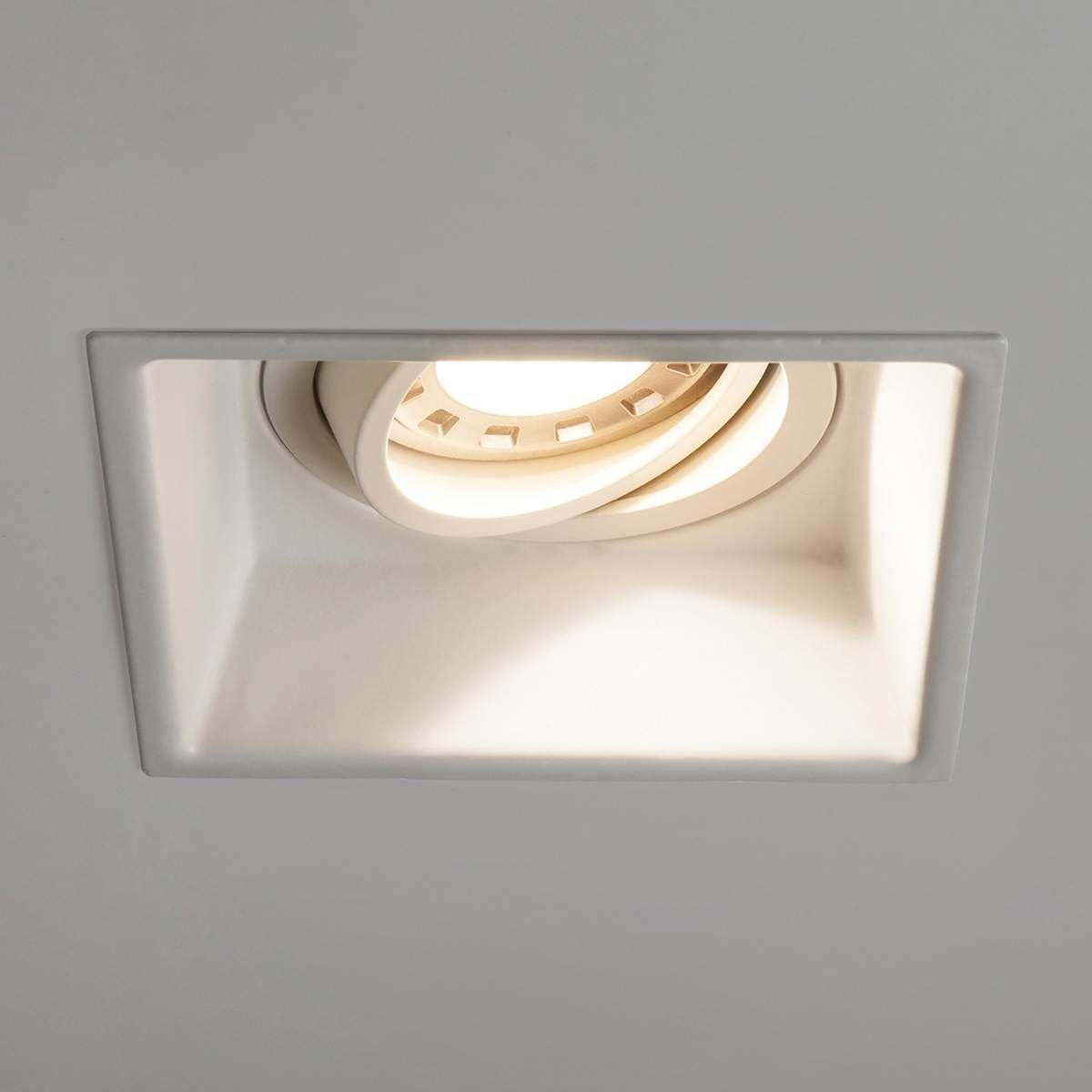 Astro Minima Square Adjustable Einbaulampe Weiss Einbauleuchten Led Leuchtmittel