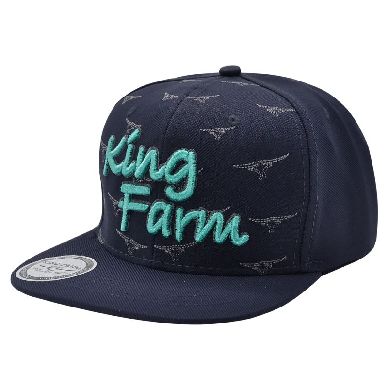 Boné King Farm Aba Reta - Cor Azul Marinho. - Aba costurada. - Modelo 81d2fa289c3bb
