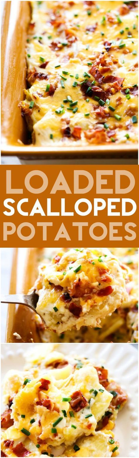 Loaded Scalloped Potatoes Chef In Training Recipe Recipes Baked Potato Toppings Food