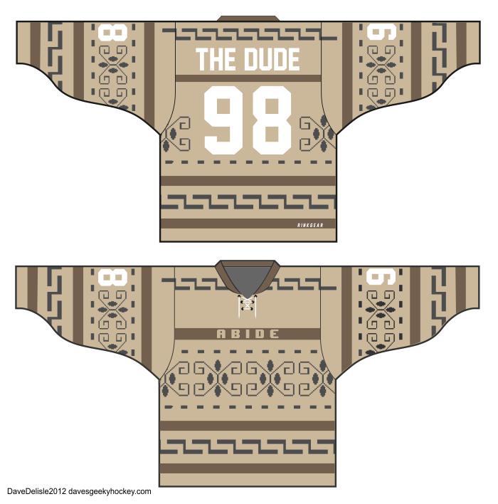 The Dude Abides Lebowski Hockey Jersey  0acb12a0d78